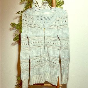 Sleeping on Snow Cable Knit ZIP Cardigan